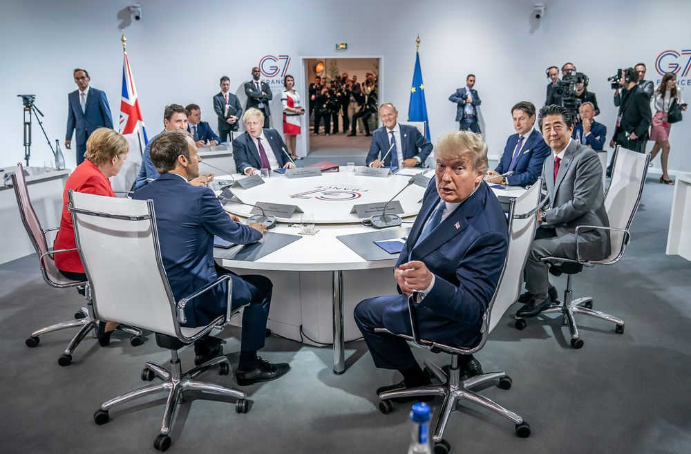 G7 leaders in Biarritz on Aug 25.