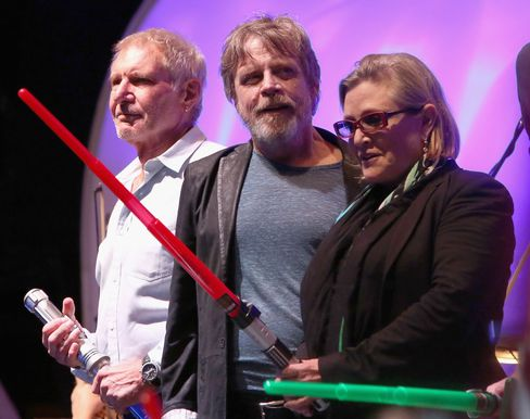 Star Wars Actors Harrison Ford, Mark Hamill and Carrie Fisher