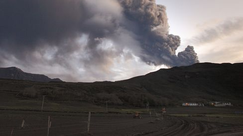 Eyjafjallajokull Eruption in Iceland