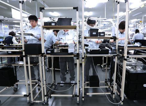 Japan Manufacturers Turn Optimistic for First Time Since 2011