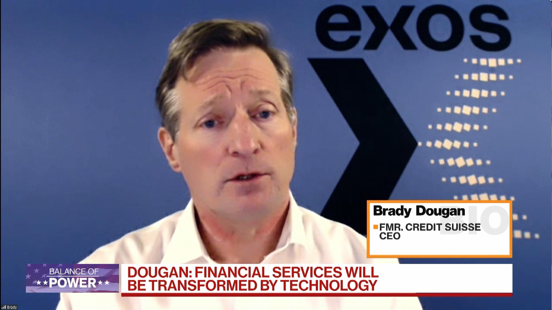Financial Services Will Be Transformed by Technology, Says Credit Suisse Ex-CEO Brady Dougan