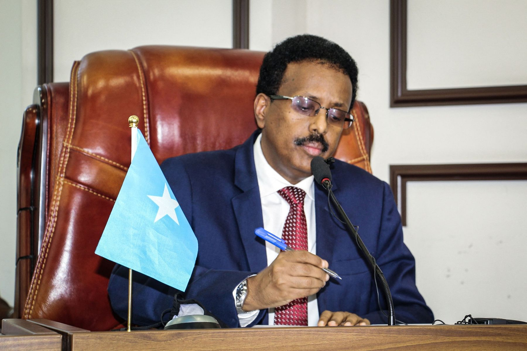 PresidentMohamed Abdullahiin Mogadishu on May 1.