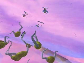 A still from John Klima's ecosystem2000 digital animation