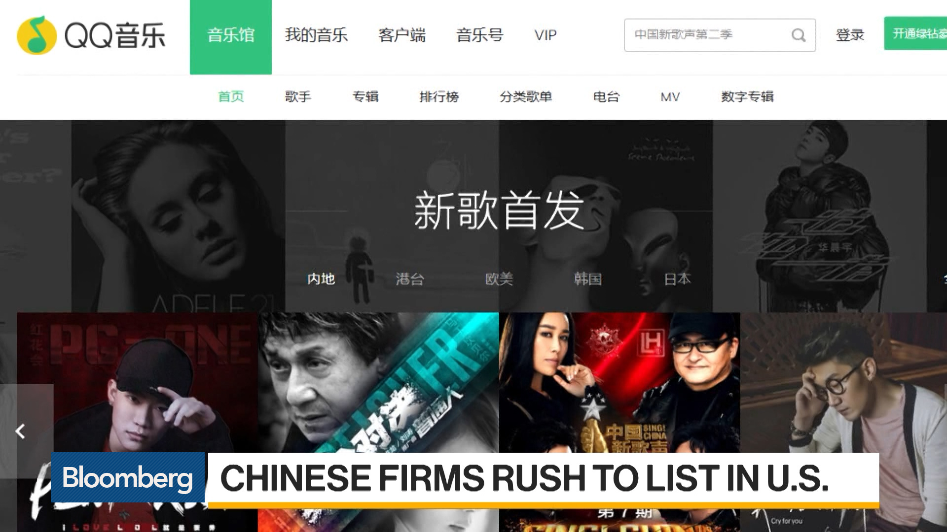Chinese Streaming-Music Giant Files for $1 Billion U S  IPO