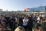 People gather at the Umayyad Square in Damascus on April 14.