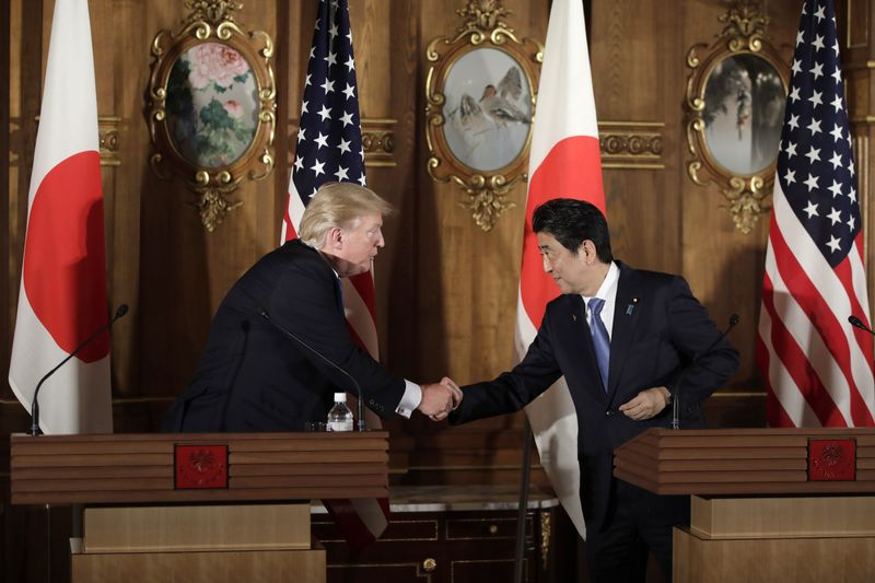 U.S. President Donald Trump's Second Day In Japan