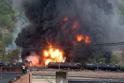 The Bad Oil Boom: Train Explodes in Virginia Town While Regulators Chug Along