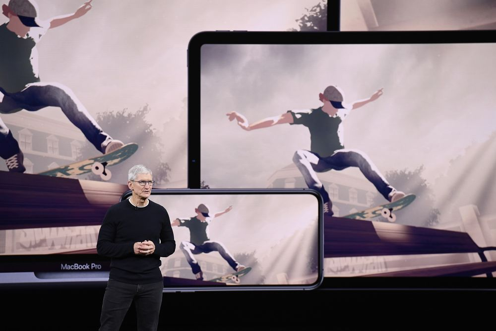 Tim Cook, chief executive officer of Apple Inc., speaks about Apple Arcade.