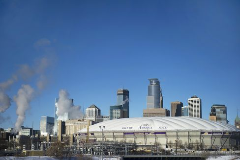 The Hubert H. Humphrey Metrodome Stands in Minneapolis