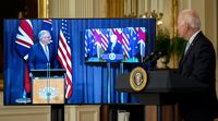 relates to Biden Thanks 'That Fellow Down Under' During Virtual Press Conference