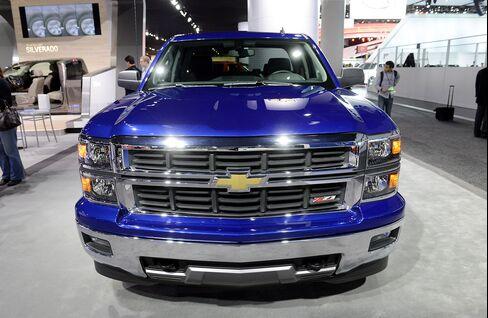 A General Motors Co. Chevrolet Silverado Truck Sits in Detroit