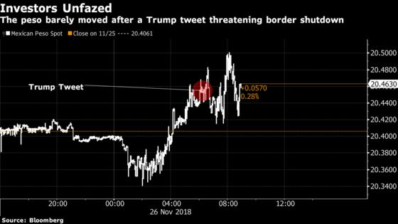 Mere Blip for Peso Suggests Trump Fatigue After His Mexico Tweet