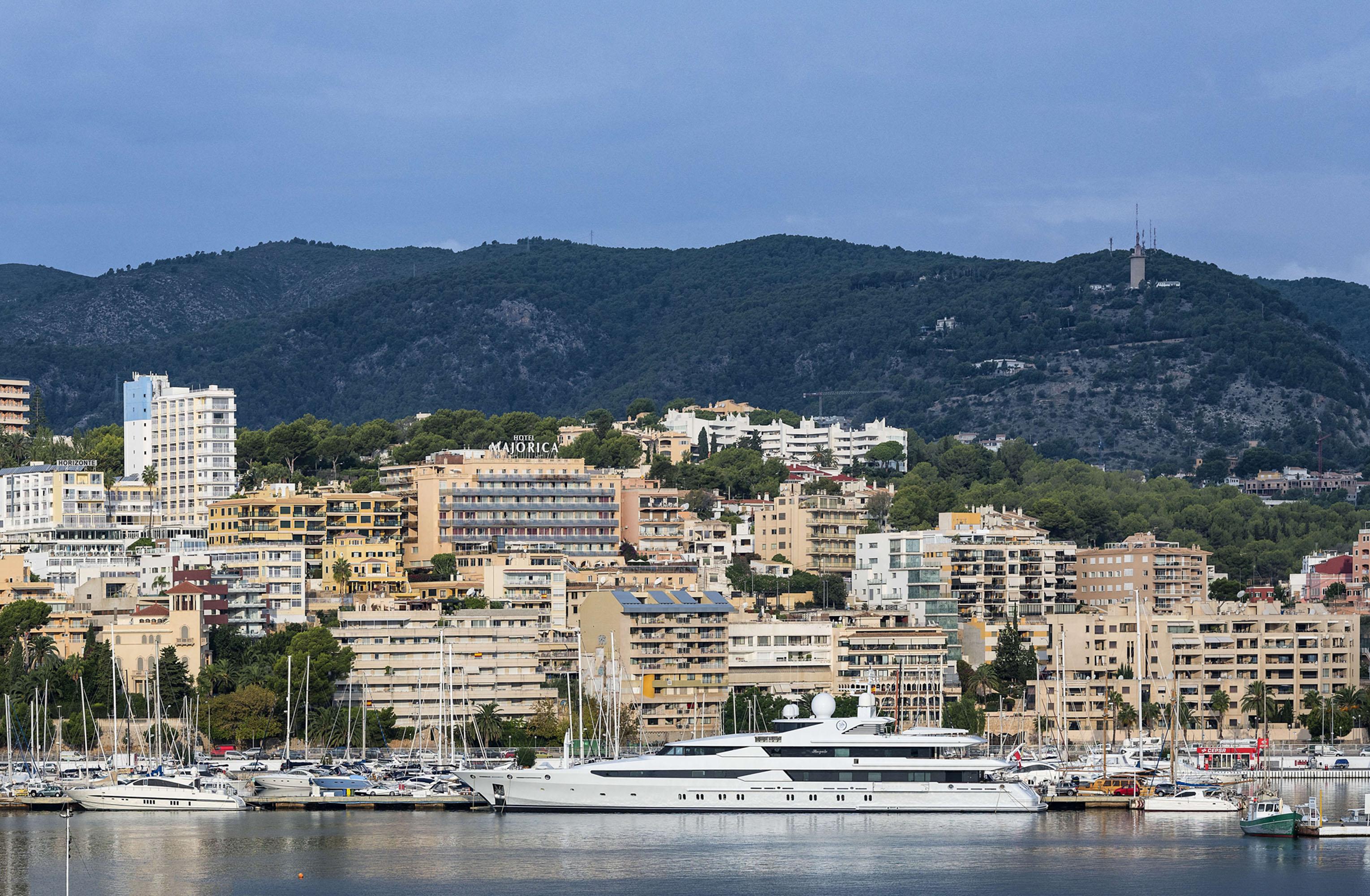 Jachty zacumowane w Palma na Majorce.