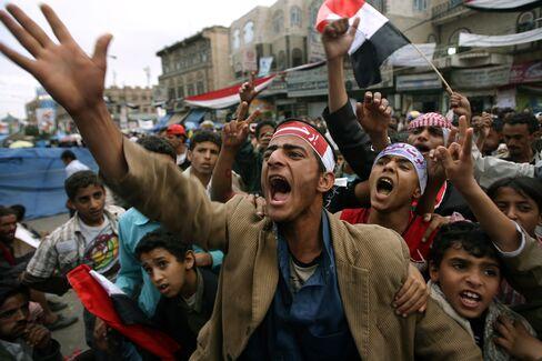Yemenis Demonstrate