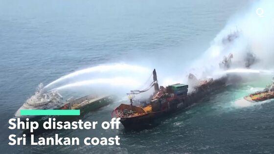 Shipwreck Threatens Beaches as Sri Lanka Braces for Oil Spill