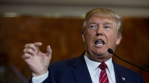 Donald Trump speaks during a news conference at Trump Towers in New York on Sept. 3.