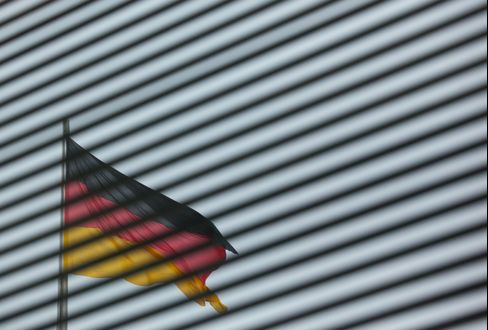 A German Flag Flies At the Reichstag