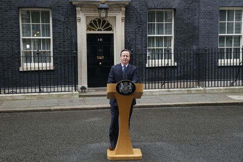 David Cameron delivers a statement outside 10 Downing Street.