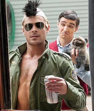Zac Efron (left) and Dave Franco in Neighbors