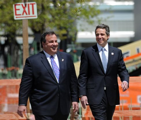 Christie Agenda Shaken by Sandy as Cuomo Consolidates Popularity