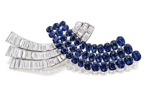 Van Cleef & Arpels Sapphire and Diamond Brooch