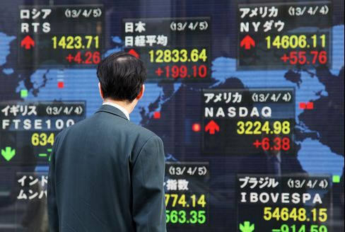 Asian Stocks Rise as BOJ Drives Nikkei 225 to 4 1/2 Year High