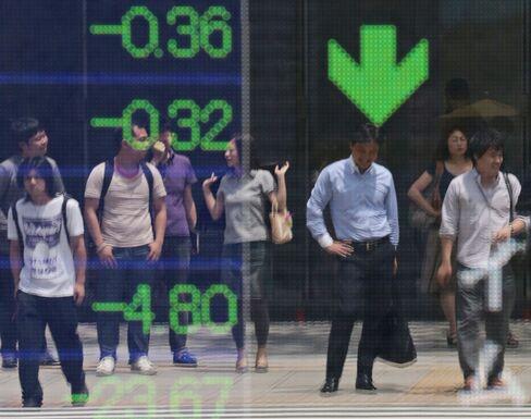Asian Stocks Slip Before Kuroda Speech as Dollar Drops With Gas