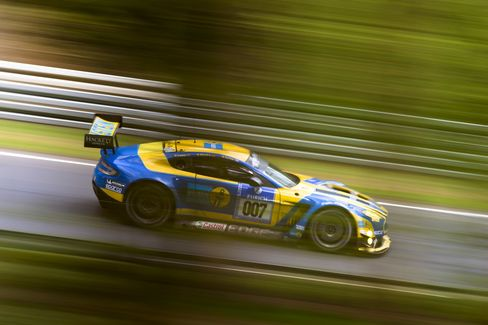 The Aston Martin Vantage V12 GT3 Special Edition racing at the Nurburgring 24 Hours.
