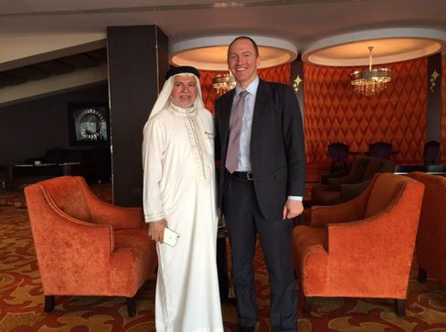Carter Page with Hadi Al Alawi, chairman of Al Hayat Group, in Bahrain.