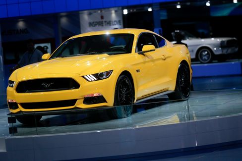 "Ford's dramatic redesign of the sixth-generation Mustang sent sales soaring. Here's a 2015 version in ""triple-yellow."""