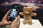 The 3D augmented reality scanner feature of the Samsung Electronics Co. Galaxy Note 10 smartphone is demonstrated.