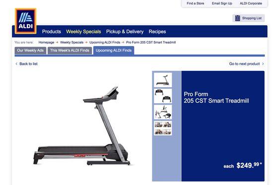 Grocery Run? Discount Chain Aldi Adds $250 Treadmills