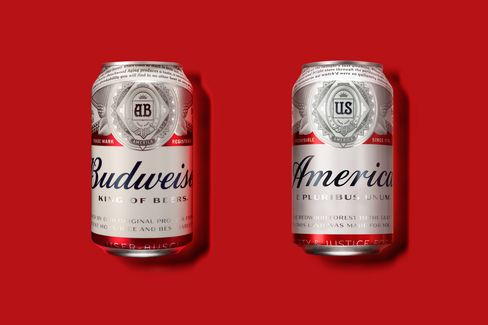 Budweiser's new summer design, right.