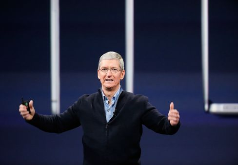 Apple CEO Tim Cook during an Apple special event at the Yerba Buena Center for the Arts on March 9, 2015 in San Francisco, California.