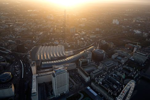 Aerial Views Of The City Of London And The Canary Wharf Business & Financial District