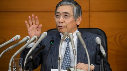 Bank of Japan Governor Haruhiko Kuroda Attends News Conference