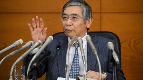 Bank of Japan Governor Haruhiko Kuroda Attends News Conference