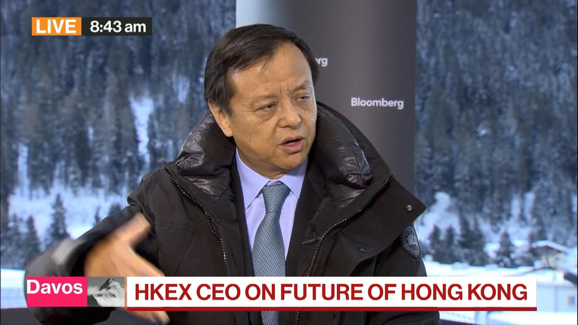 Davos: HKEX CEO 'Not Terribly Surprised' by Moody's Hong Kong Downgrade