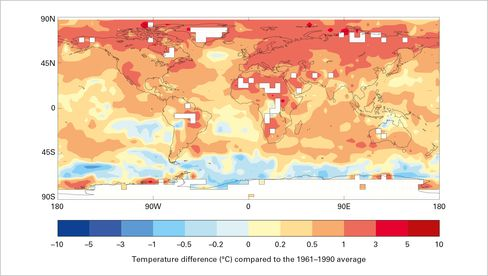 Source: Met Office Hadley Centre and Climatic Research Unit, University of East Anglia