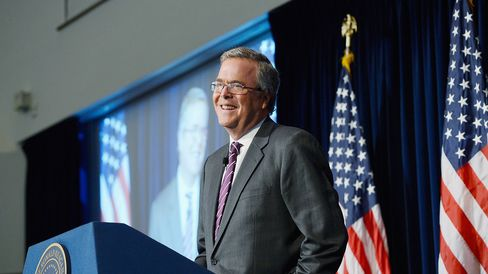 Former Florida Governor Jeb Bush speaks at the Reagan Library about his new book 'Immigration Wars: Forging an American Solution' on March 8, 2013 in Simi Valley, California.