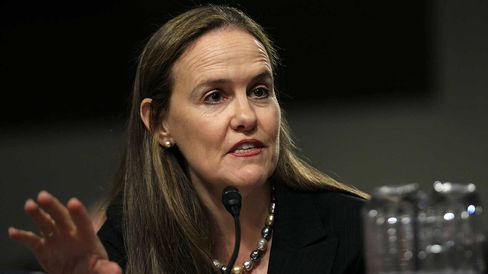Under Secretary of Defense for Policy Michele Flournoy testifies during a hearing before the Senate Armed Services Committee on March 15, 2011, in Washington, D.C.