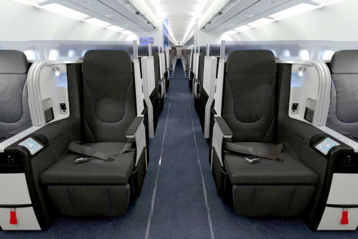 Inside JetBlue's First-Ever Business-Class Cabin - Bloomberg