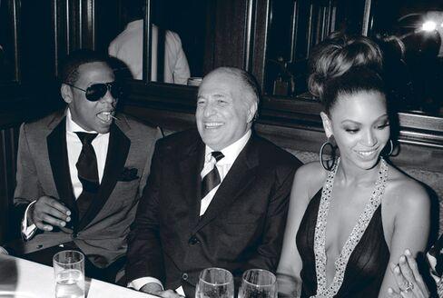 Morris with Jay-Z and Beyoncé