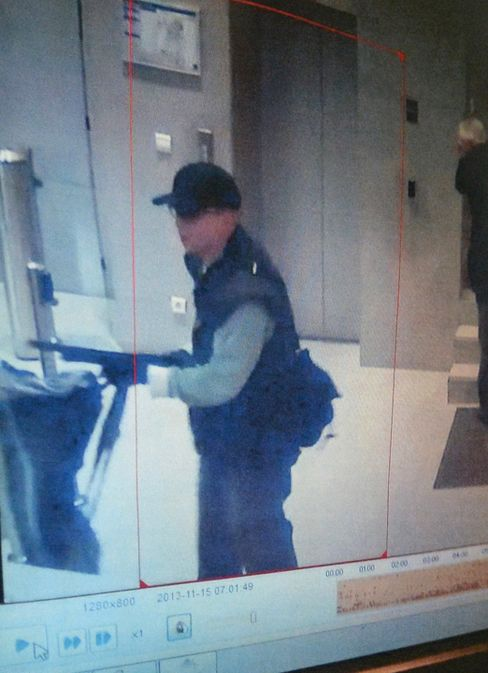 CCTV Image of Gunman in BFM Television Offices