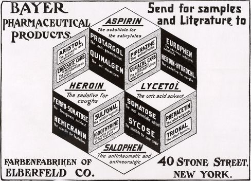 A Bayer advertisement from a 1900 magazine.