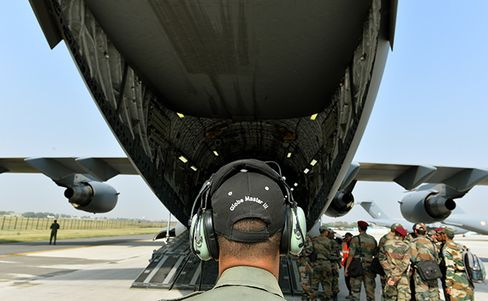 Indian Military Aircraft Prepares for Nepal Rescue