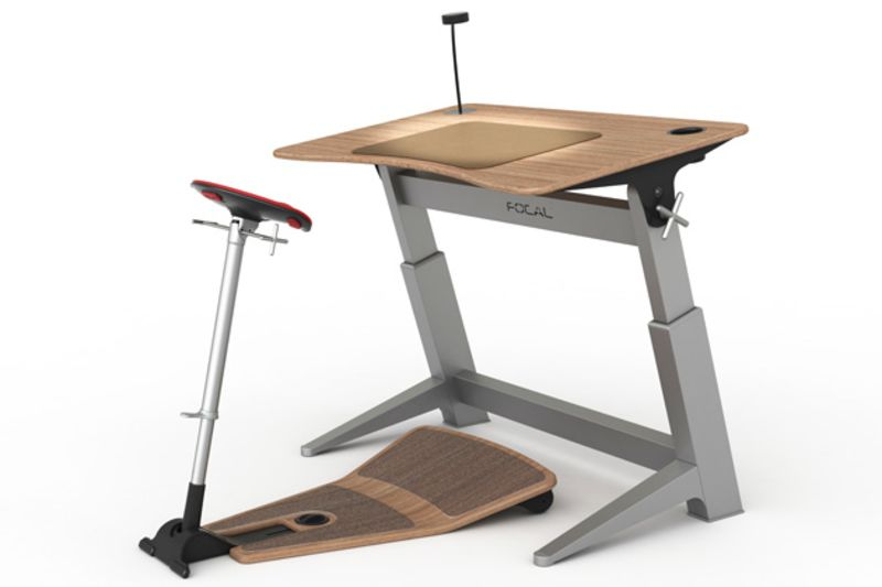 Office Upgrade HalfStanding HalfSitting Workstation Bloomberg