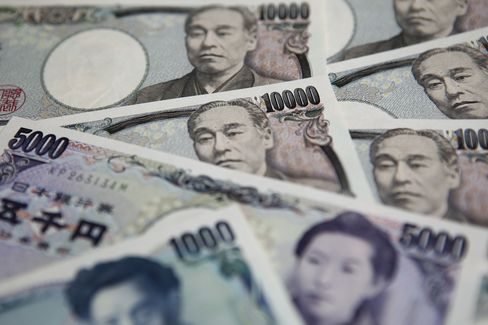 Yen Falls for 8th Day After Export Slump Spurs BOJ Easing Bets