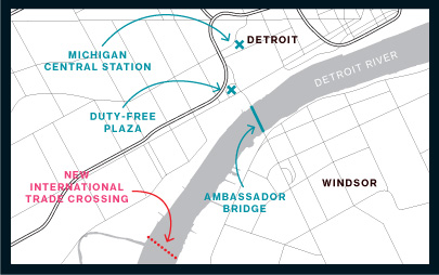 Government and business leaders back a second bridge across the Detroit River