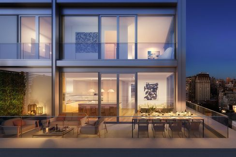 Penthouse terrace of 21 East 12th.